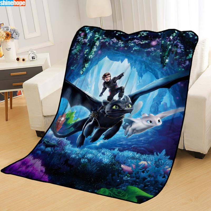 New Arrival How To Train Your Dragon Blankets Printing Soft Nap Blanket On Home/Sofa/Office Portable Travel Cover Blanket