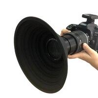 Конечная бленда объектива снимает фотографии без отражения видео 30 мм 55 мм силиконовая конечная бленда объектива универсальная для Nikon Canon