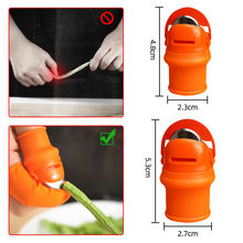 2pcs Gardening Silicone Thumb Knife Finger Protector Farm Vegetable Fruit Grape Picker Gears Cutting Vegetable Harvesting Tools