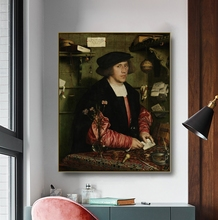 Canvas Art Oil Painting《Portrait of Georg Giese》Hans Holbein Art Poster Picture Wall Decor Modern Home Decoration For Office hans giese han man