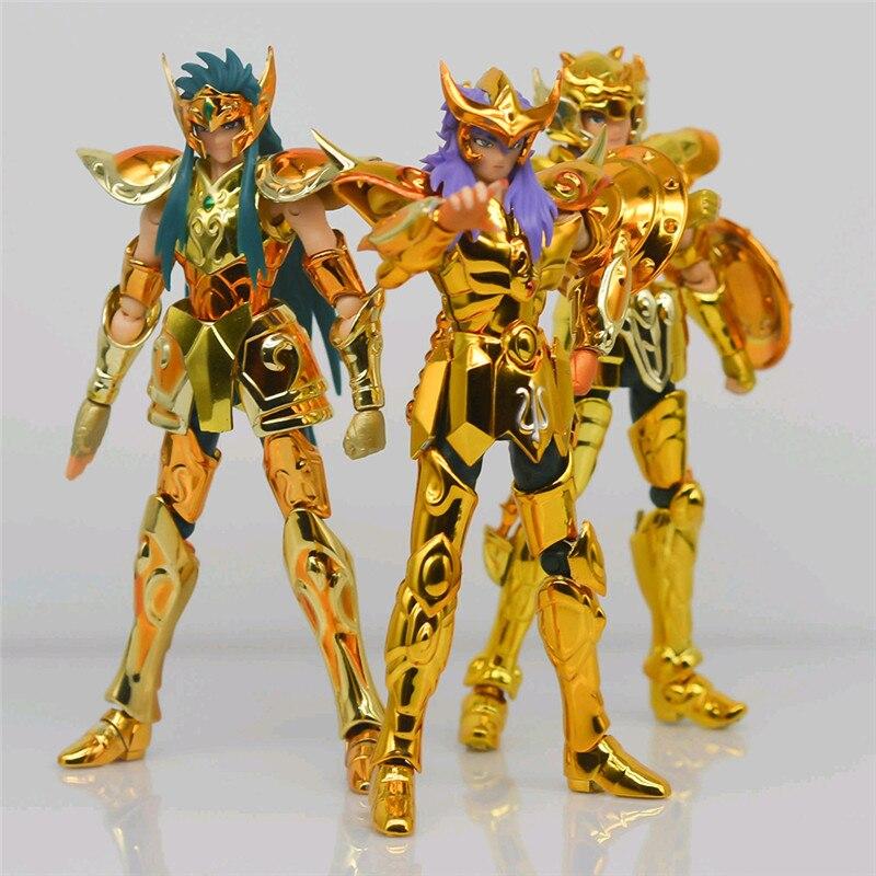 SG modèle Saint Seiya balance Dohko / Milox scorpion avec objet forme armure métallique or Saint PVC figurine modèle jouets DDP 10cm