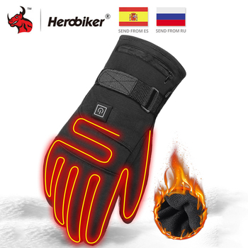 Waterproof Motorcycle Gloves Heated Guantes Moto Heating USB Hand Warmer Electric Thermal Heated Gloves Battery Powered Gloves 1