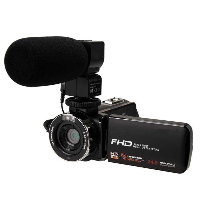 ビデオカメラ 1080 1080p フル Hd ポータブルデジタルビデオカメラ 2400 ワットピクセル 8X デジタルズーム 3.0 インチプレス液晶スクリーンビデオカメラ