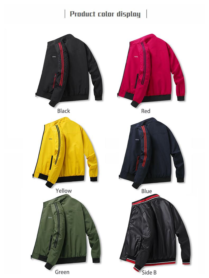 Men L-S Bomber Motorcycle Jacket