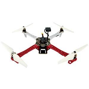 Radioenlace F450 Drone Quadcopter con Mini Pix controlador de vuelo GPS TS100 ARF Kit de Marco UAV