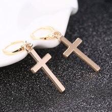 1 пара Модный женский мужской кулон в виде креста серьги СВЕРЧКИ