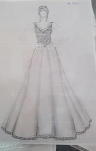 Image 3 - Best Selling V Neck Beaded Heavily Sleeveless Bling Bling Satin Floor Length Prom Dresses 2020