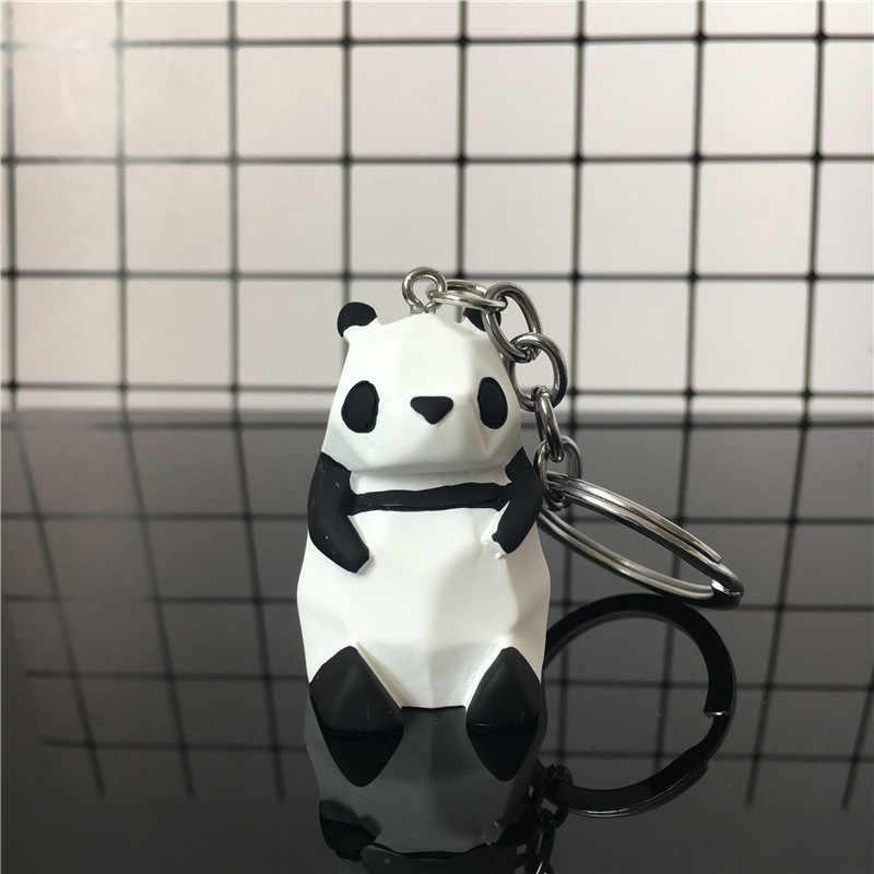 2019 Chất lượng cao Mới Sáng Tạo Hoạt Hình Dễ Thương Móc Khóa Kim Loại Trang Sức Động Vật Panda Móc Khóa Bé Gái Túi Phụ Kiện Trang Trí, Quà Tặng
