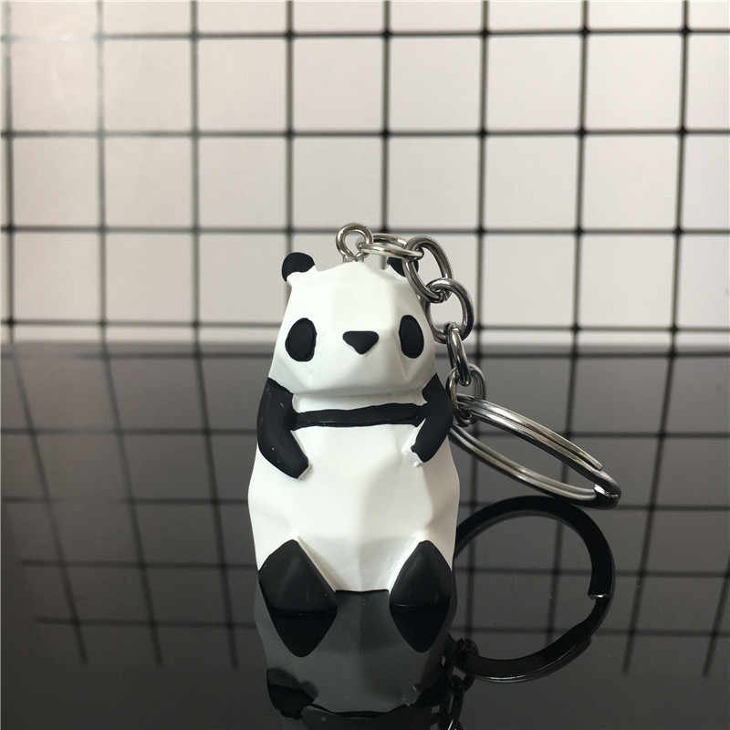 High Quality 2019 New Creative Cute Cartoon Keychain Metal Jewelry Animal Panda Key Chain Girls Bag Ornaments Accessories Gift