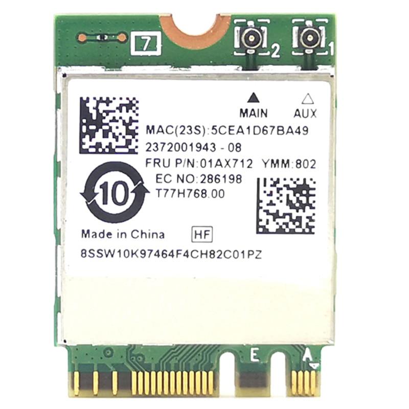 NGFF Wireless Card RTL8822BE 802.11Ac 433Mbps Wifi Bluetooth 4.0 01AX712 for Thinkpad L470 L570 T470 T570 X270