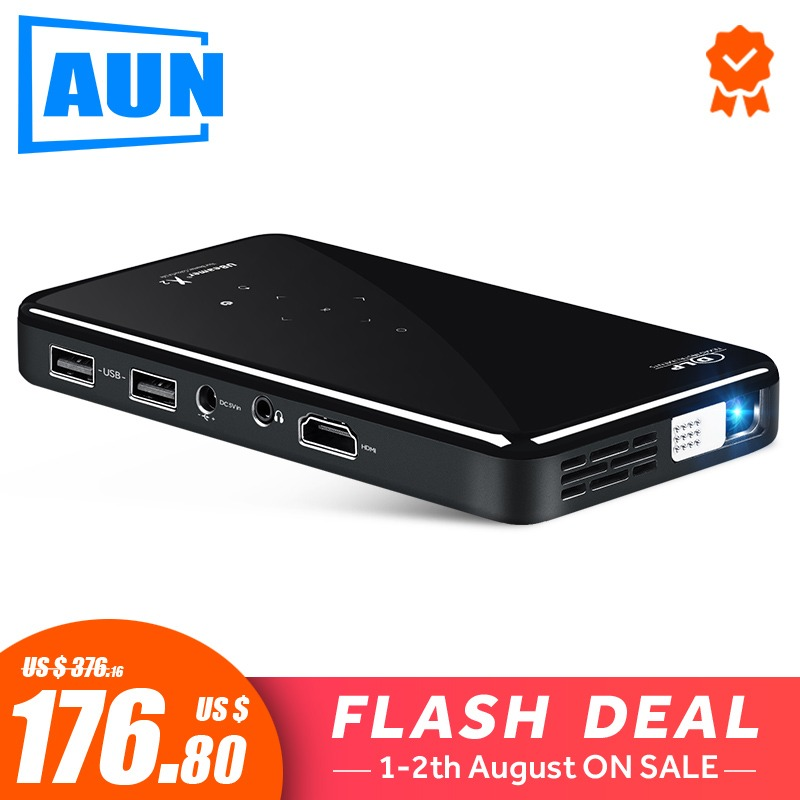AUN MINI Projector X2 Android 7 1OS WIF Optional 2G 16G Voice Control Version for 1080P