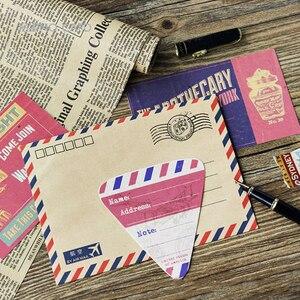 Image 3 - 5packs/lot Mode Design Werbung Boxed Nachricht Postkarten Büro Schule Liefert Mini Papier Postkarte Großhandel