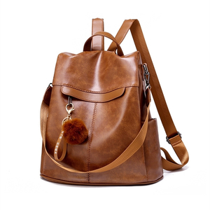 Image 3 - Women Backpack High Quality Vintage Oil Wax PU Leather Bagpack 2020 New Waterproof Anti theft Ladies Leisure Travel Back Pack