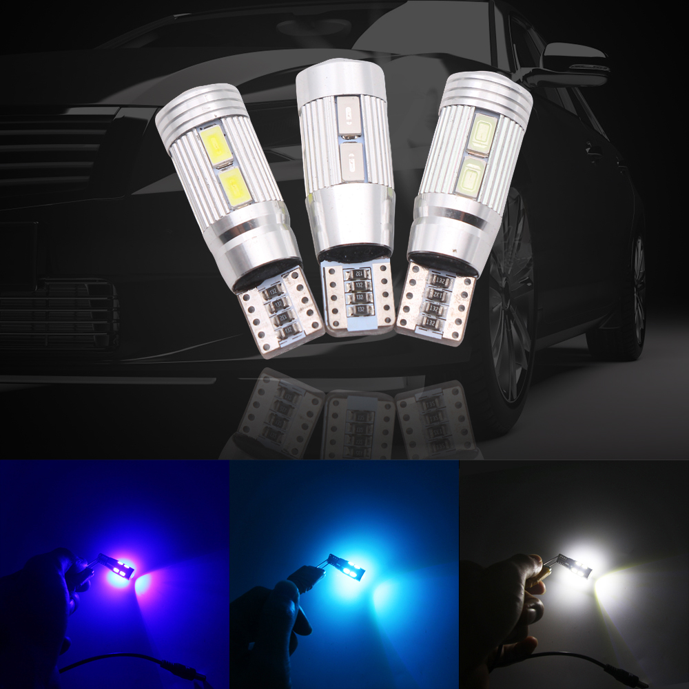 2PCS Car Styling Auto LED T10 Canbus no error 194 W5W 10 SMD 5630 LED Light Bulb Wedge Bulb High power led car parking Fog light image