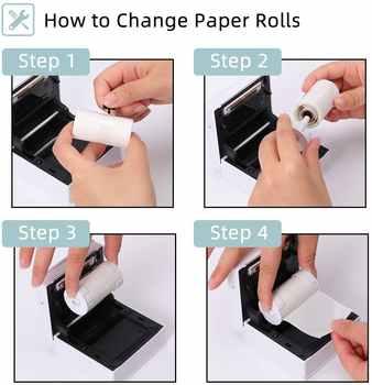 Phomemo Printable Transparent Thermal Paper for Phomemo M02/M02S/M02Pro Printer Self-Adhesive Sticker Paper Roll Adhesive Paper