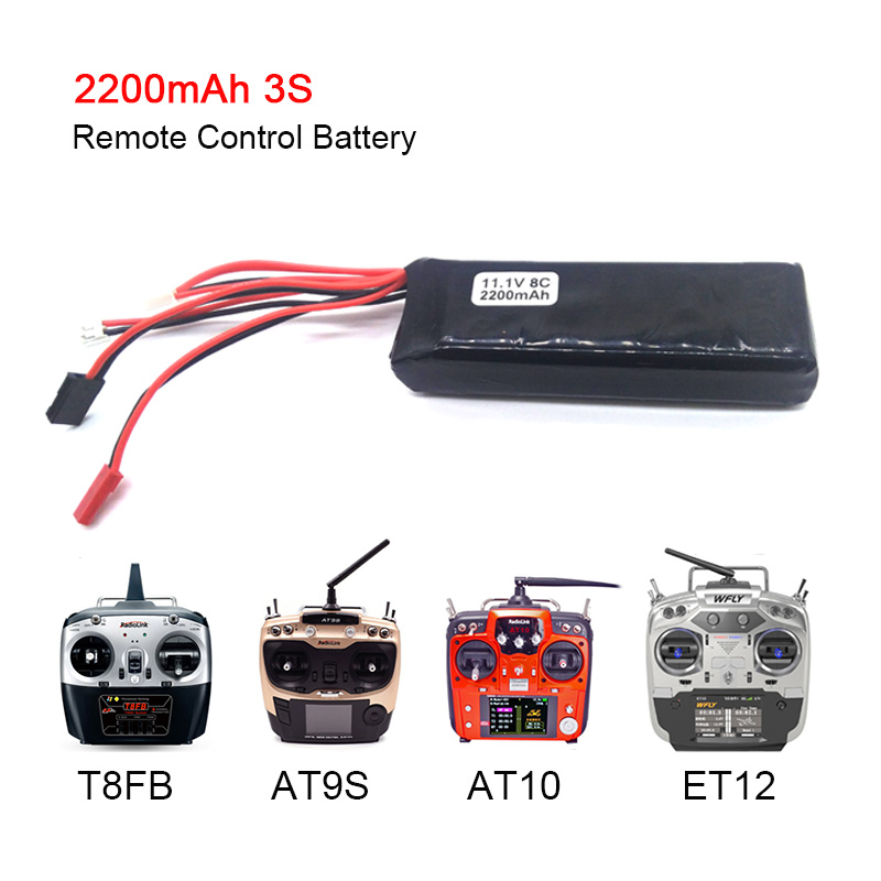 Remote Battery 11.1V 2200MAH Lipo Battery For Radio-Link AT9 AT10 T8FB Devo7 WFLY9 Transmitter Light RC Parts Accessories