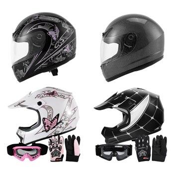 DOT Youth Kids Child Adult helmet full face motocross casco moto Off-road Street Bike helmets ATV capacete Motorcycle S~XXL 1