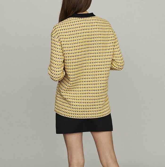 Женская куртка Франция 2019 осень зима новые продукты контрастные цвета строчка сетки женские пальто и брюки