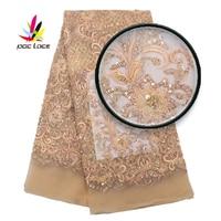 Latest African Fabrics Nigerian French Tulle Mesh Lace Nigeria Luxury Handmade Beads Lace Mesh Net Lace Beaded Lace XZ2972B 7