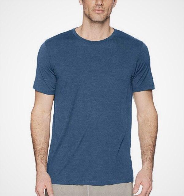 2021 Men's Merino Wool T Shirt Base Layer Wool Tee Men 100% Merino Wool Shirt 170gram Wicking Breathable Anti-Odor Size S-XXL 4