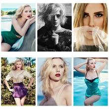 Custom Design 250GSM Paper Card PostCard Scarlett Johansson Nude Art Enchantment Temptation Girl Tease Flirt Sex BRA DIY Painted