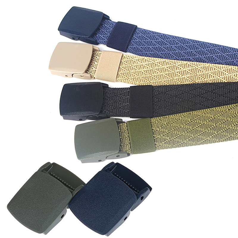 1PCS 32mm Plastic Belt Buckle For Men's Belt Cosplay Military Adjustable Tied Nylon Webbing Canvas Belt DIY Accessories