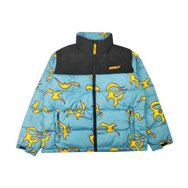 New luxury Men golf Flower Le Fleur Tyler The Creator Blue flame Coats & Jackets / Down Coats Cotton warm Winter #M38 1