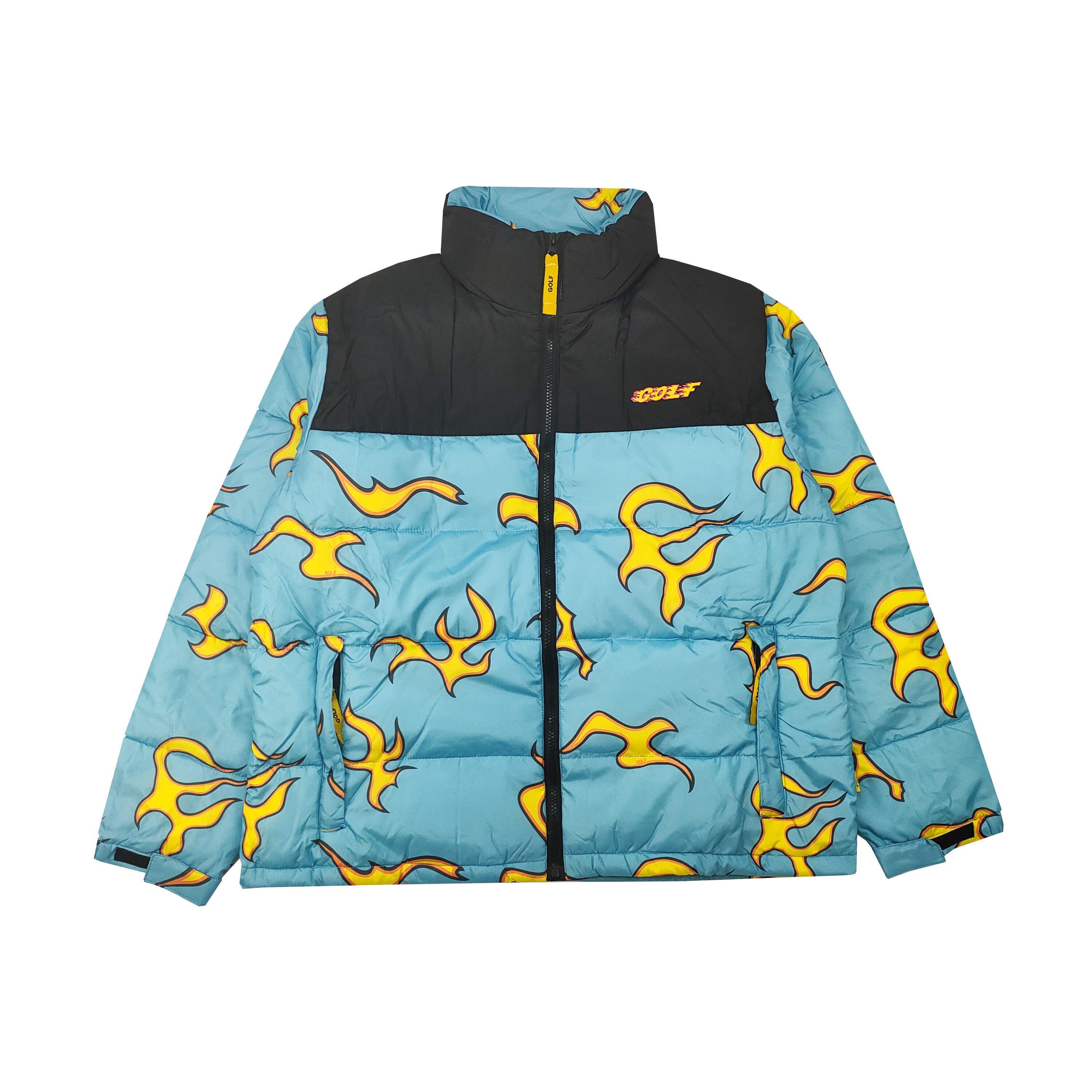 New Luxury Men Golf Flower Le Fleur Tyler The Creator Blue Flame Coats & Jackets / Down Coats Cotton Warm Winter #M38