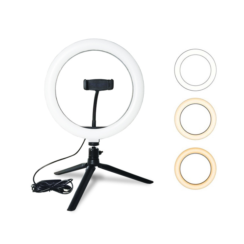 10inch 26cm USB charger New Selfie Ring Light Flash Led Camera Phone Photography Enhancing Photography for Smartphone Studio VK