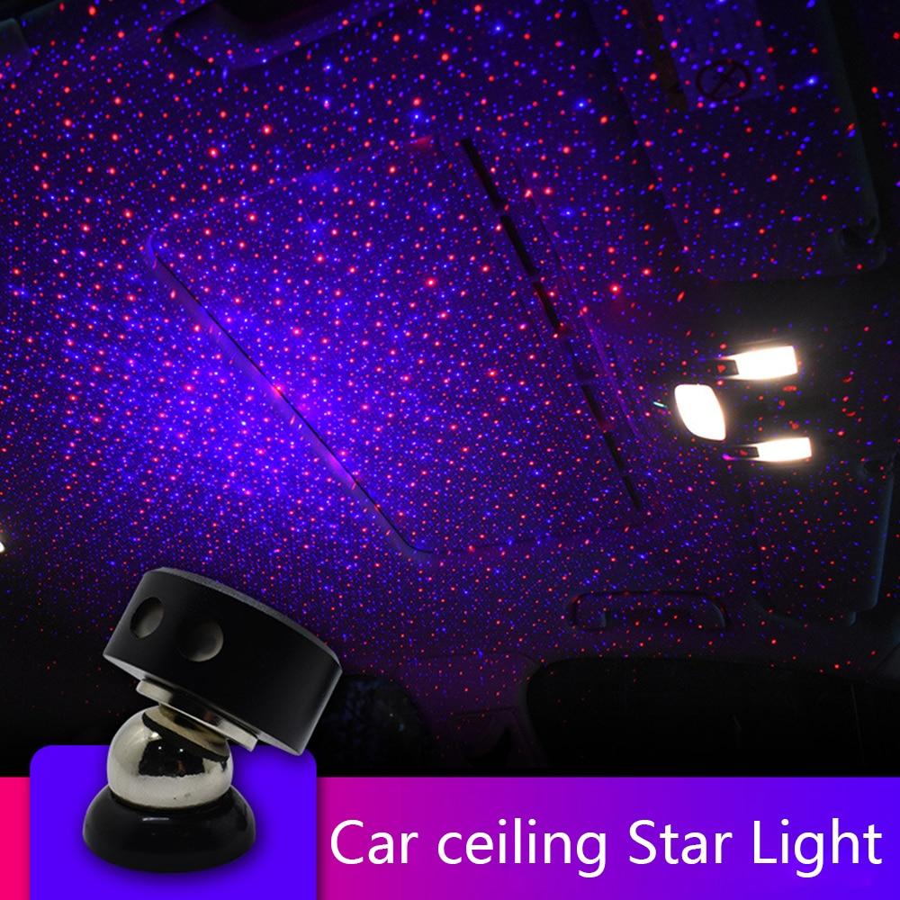 CARCTR RGB Car Atmosphere Light  Star Sky DJ Laser Projector Music Sound Remote Control Decorative Lamp K1