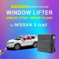 Acessórios do carro de janela automática para cima e para baixo dobrável espelho traseiro para nissan x-trail janela de energia do carro mais perto 2017 18 2019 xtrail