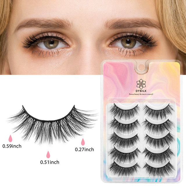 SEXYSHEEP 5/10 pair 3D Faux Mink Lashes Natural length Ru False Eyelashes Volume Fake Lashes Makeup Extension Eyelashes 3