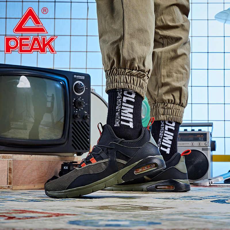 Tepe erkekler hava yastığı koşu ayakkabıları moda kontrast renk nefes spor ayakkabı giyilebilir kaymaz koşu ayakkabıları spor ayakkabı