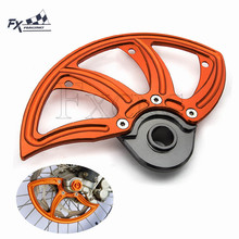 CNC Motorcycles Front Brake Disc Guard Protection For KTM SX SXF 125 250 350 450 2015-2018 Husqvarna TC/FC TE/FE TX/FX 125-501 цена