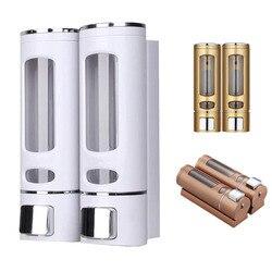Одиночный/двойной 400 мл Дозатор для мыла, настенный дозатор для душа и шампуня, контейнер для жидкого мыла, аксессуары для ванной комнаты