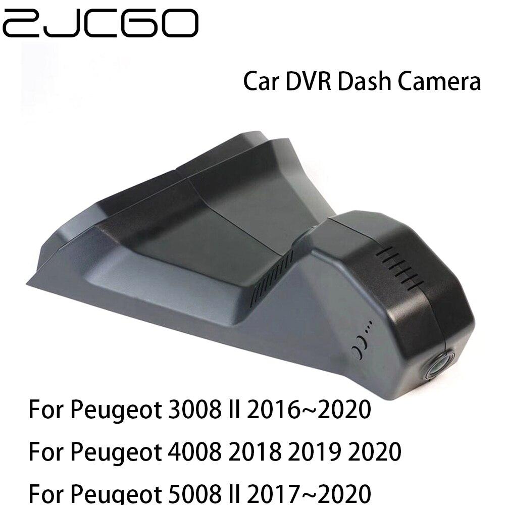 Wideorejestrator samochodowy rejestrator kamera na deskę rozdzielczą kamera Wifi cyfrowy rejestrator wideo dla Peugeot 3008 4008 5008 MK2 2016 2017 2018 2019 2020