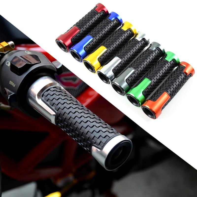 Powersports Handlebar Grips Universal Fit Aluminum And Soft Rubber Motorcycle ATV UTV Street Bike Dirt Bike Scooter Grip Set