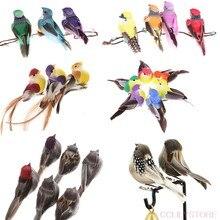 1/2個人工鳥偽のフォーム動物シミュレーションフェザー鳥モデルdiyの結婚式ホーム庭の装飾装飾