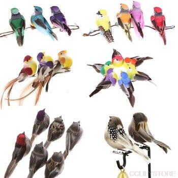 1/2PCS Artificial Birds Fake Foam Animal Simulation Feather Birds Models DIY Wedding Home Garden Ornament Decoration