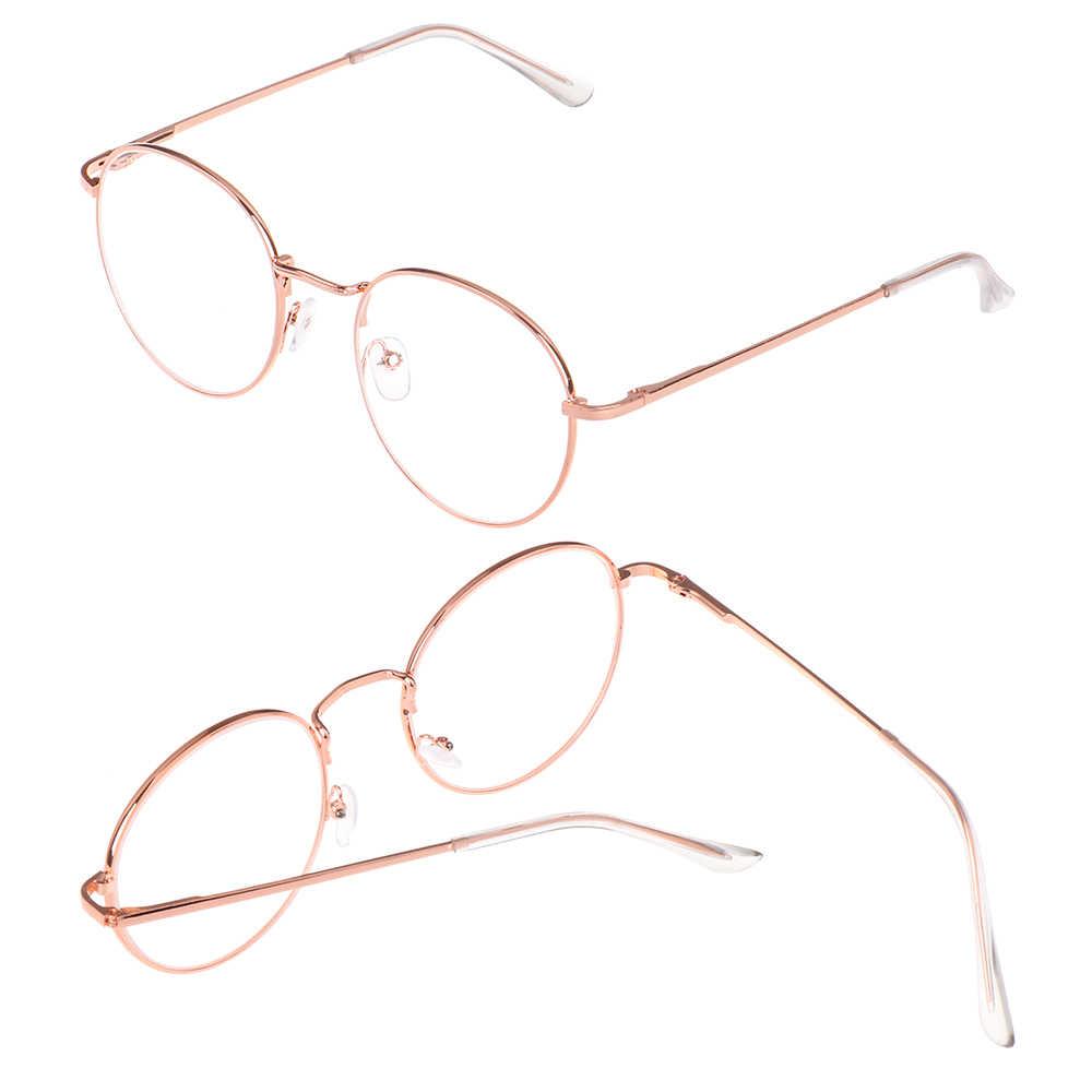 Óculos para miopia vintage, óculos acabados ultraleve de metal redondo, novo óculos clássico para míopes, dioptria-1 -1.5 -2 -2.5 -3 -3.5 -4