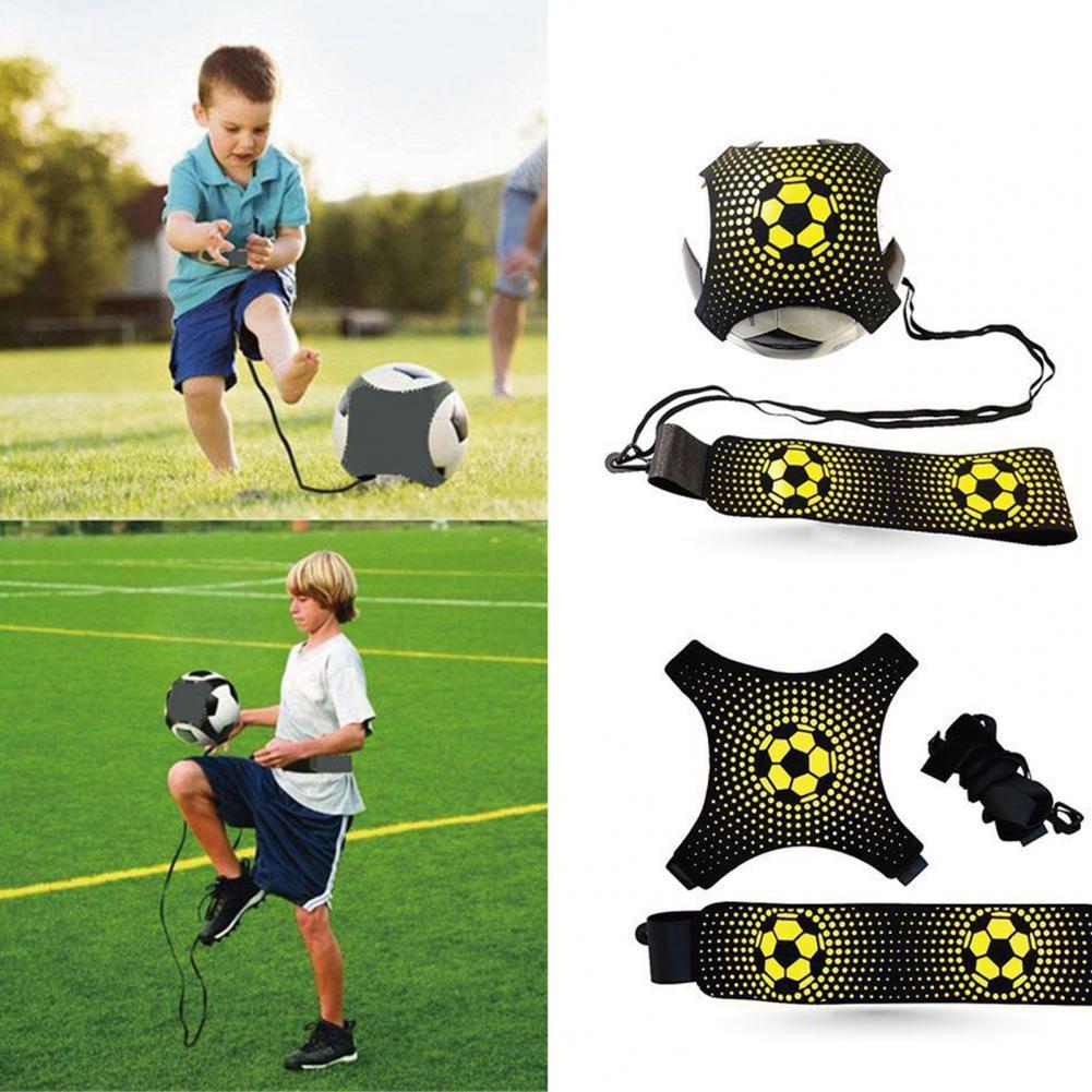 Kids Adult Control Skills Kick Ball Football Strap Training Aid Durable Elastic Returner Practice Soccer Trainer Belt Accessory