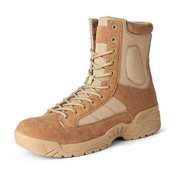 Botas militares para hombre zapatos de deporte de senderismo botines botas de seguridad para el