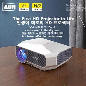 Image 2 - AUN ET10 Series MiNi LED Projectorสำหรับ 3D Video Beamer. 1280X720P, 3800 ลูเมน,สนับสนุน 1080P, HD IN (อุปกรณ์เสริมAndroid 6.0)