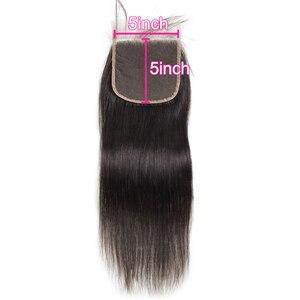 Image 4 - ברזילאי שיער טבעי סגירת תחרה ישר 5x5 6x6 2x6 4x4 פרונטאלית סגירת PrePlucked טבעי קצר ארוך רמי עבור נשים שחורות