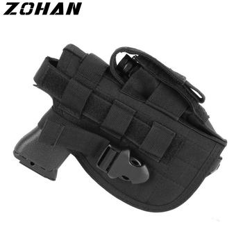 Tactical Big Glock Molle Holster Universal Pistol Airsoft Holster Concealed Combat Military CS Waist Quick Gun Case for Shooting 1