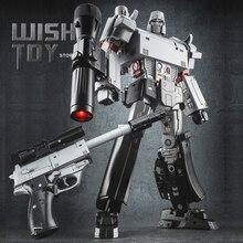 32 سنتيمتر روبوت التحول WJ G1 المعادن جزء بندقية نموذج MP36 NE 01 MPP36 كبيرة الحجم بندقية عمل الشكل جمع الاطفال اللعب