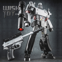 Robot de transformación de 32CM WJ G1 pieza metálica modelo de pistola MP36 NE 01 MPP36 arma grande colección de figuras de acción juguetes para niños