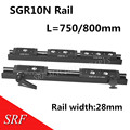 28 мм ширина  прямоугольный ролик  линейная направляющая SGR10N длина = 750/800 мм  двойной осевой валик  линейная направляющая  Направляющий Блок ...