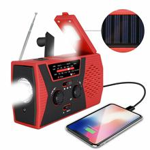 Portable Searchlight Outdoor Household LED Flashlight Emergency Radio Survival Light Solar Hand Crank Self Powered Reading Lamp