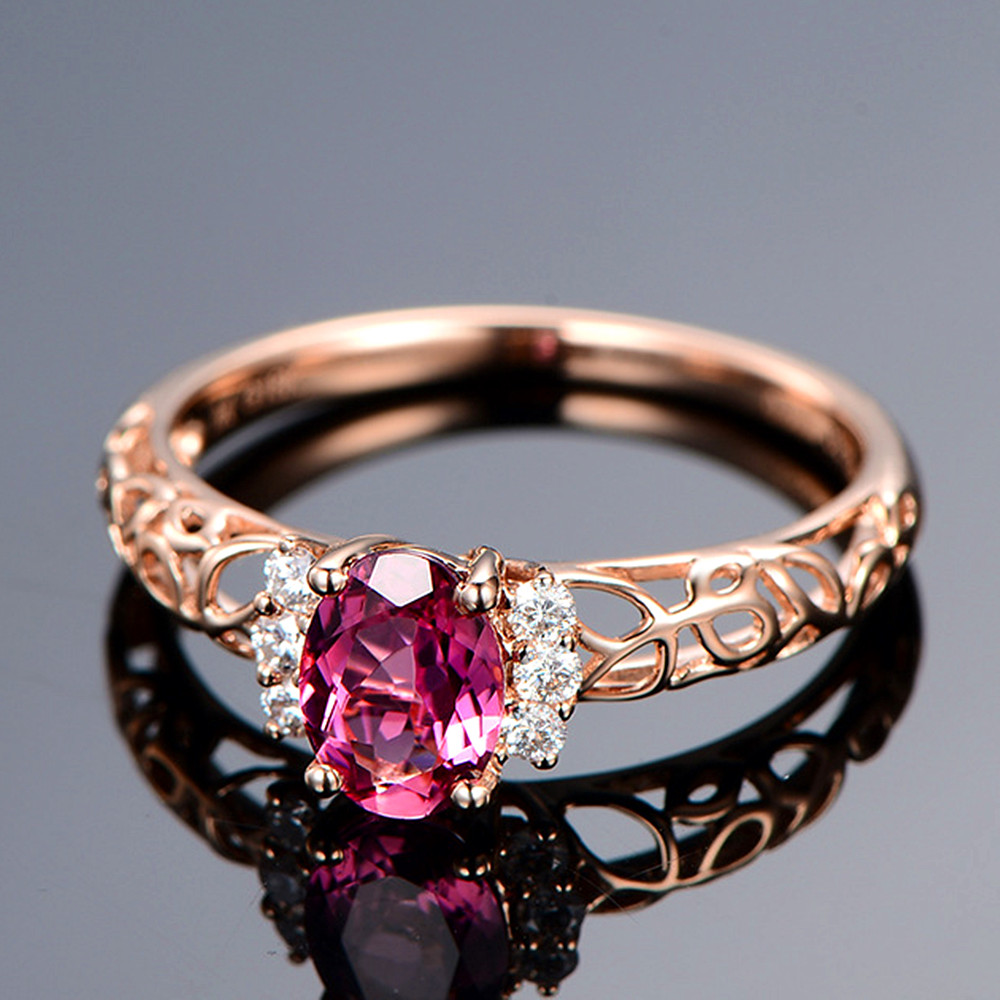 Vintage carving ruby gemstones red crystal zircon diamonds rings for women rose gold color anillo jewelry bague bijoux gift 2020